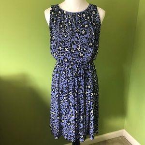 LOFT sleeveless knit dress with cinched waist